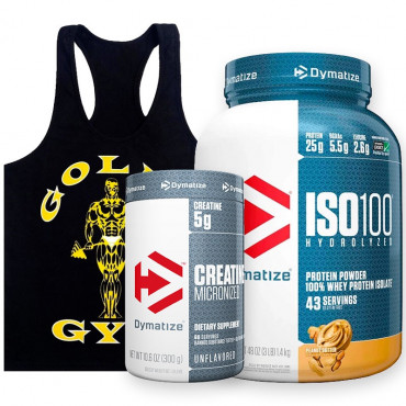 Pack Dymatize + Polera Gold´s Gym
