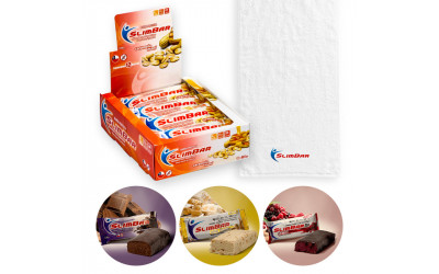 Pack Barritas de Proteina Slimbar + Toalla
