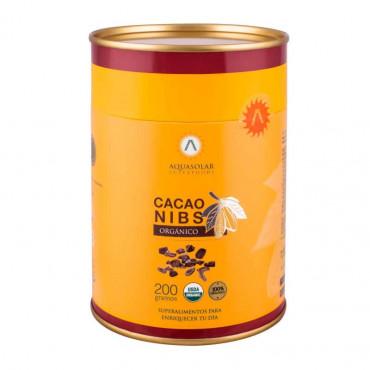 Cacao Nibs Organico 200 g Aquasolar